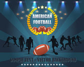 American Football wreath Vector Design — Stock Vector