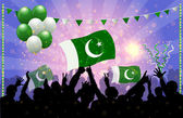 National Celebration Vector Pakistan — Stock Vector