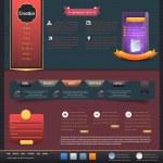Vintage Website design vector elements — Stock Vector #12820198