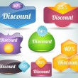 Royalty-Free Stock Vector Image: Set of colorful Discount vector Icon Banner Shape