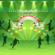 Basketball Ribbon Vector Design — Image vectorielle
