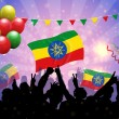 National Celebration Vector Ethiopia — Grafika wektorowa