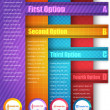 Vector Background Number Options Banner & Card - Imagens vectoriais em stock