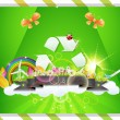 Eco Background Vector — Stock Vector #12851131