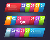 Vector Background Number Options Banner — Stock Vector