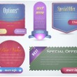Web banner vector set — Stockvectorbeeld