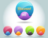 Discount web banners and buttons — Stock Vector