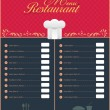 Restaurant Menu Vector Design — Stock Vector