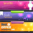 Web Banner Template Vector Design — Vettoriali Stock