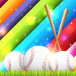 Baseball Theme Vector Design - Stock Vector