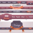 Web Elements Vector Header Navigation Templates Set — Stockvektor #12887832