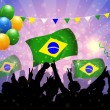 Stock Vector: National Celebration Vector Brazil