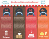 Vector Background Number Options Banner and Card — Vector de stock