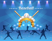 Baseball Theme Vector Design — Stock Vector