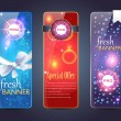 Banners Vector Design — Vettoriali Stock