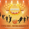 ストックベクタ: Basketball Theme Vector Design