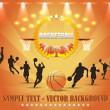 Basketball Theme Vector Design — Image vectorielle