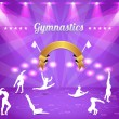 Royalty-Free Stock Vector Image: Gymnastics Theme Vector Design
