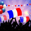 National Celebration Vector France — Imagens vectoriais em stock