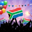 National Celebration Vector South Africa — Stock Vector