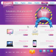 Business Theme Website design vector elements — ベクター素材ストック
