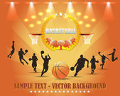 Basketball Theme Vector Design — Vettoriale Stock