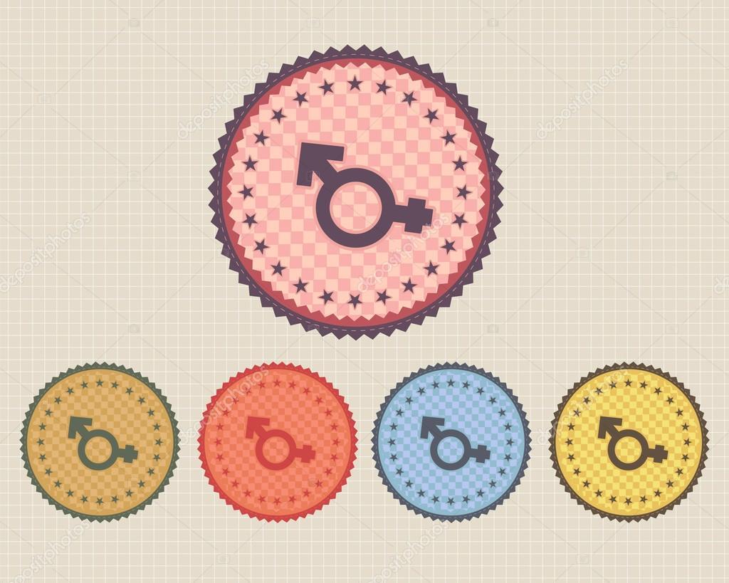 Botón del icono Vector vintage sexualidad y multicolor — Vector de ...: sp.depositphotos.com/12896704/stock-illustration-vector-vintage...