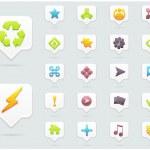 Clean Vector Icon Set 01 — Stock Vector #13056136