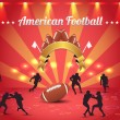 American Football Theme Vector Design - Stock Vector