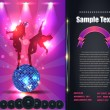 Party Brochure Flyer Vector Template — Stock vektor