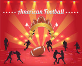 American Football Theme Vector Design — Stock Vector