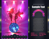 Party Brochure Flyer Vector Template — 图库矢量图片