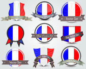 National flag badges set — Stock vektor