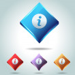 Vector Glossy Diamond Info Icon Button and multicolored - 图库矢量图片