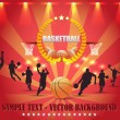 Abstract Background Basketball Vector Design — Stockvectorbeeld