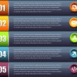 Vector Background Number Options Banner Card — Grafika wektorowa