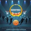 Abstract Background Basketball Vector Design — Stock Vector
