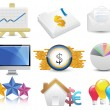 Business and finance icon set — Stock Vector #13152932