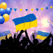 National Celebration Vector Ukraine - Stock Vector