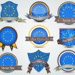 图库矢量图片: EuropeUnion Flag badges set