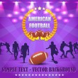 American Football Vector Design — Stok Vektör