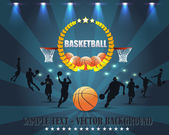 Abstract Background Basketball Vector Design — Vettoriale Stock