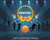 Arka plan basketbol vektör tasarımı — Stok Vektör