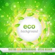 Stock Vector: Eco background vector