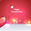 Vector Illustration of Valentine Card Design — Stock Vector