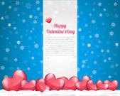 Vector Illustration of Valentine's Day Card Design — Vettoriale Stock