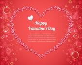 Vector Illustration of Valentine Card Design — Vector de stock