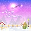 Merry Christmas Vector Background — Imagens vectoriais em stock