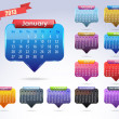 Stock Vector: Calendar Year 2013 Vector Template