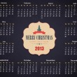 Calendar Year 2013 Vector Template - Vektorgrafik